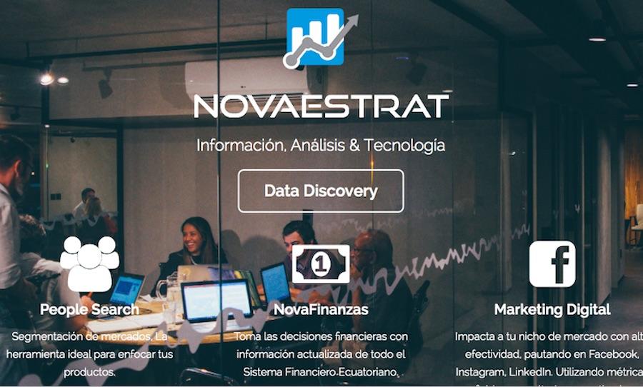 Website de la desaparecida Novaestrat