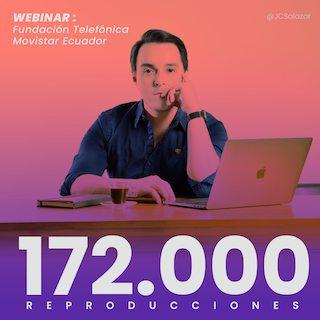 172.000 reproducciones - JCSalazar Webinar Fundación Telefónica Movistar